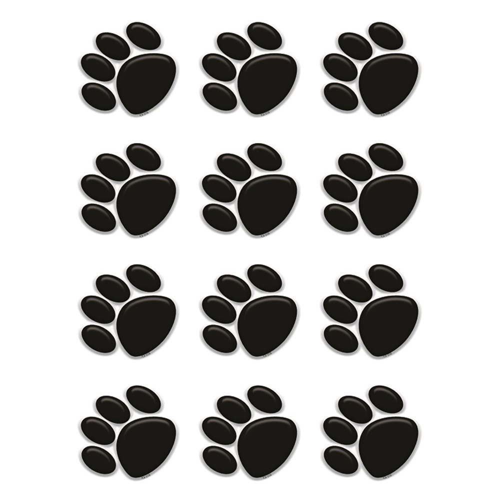 TCR5118 - Black Paw Prints Mini Accents in Accents