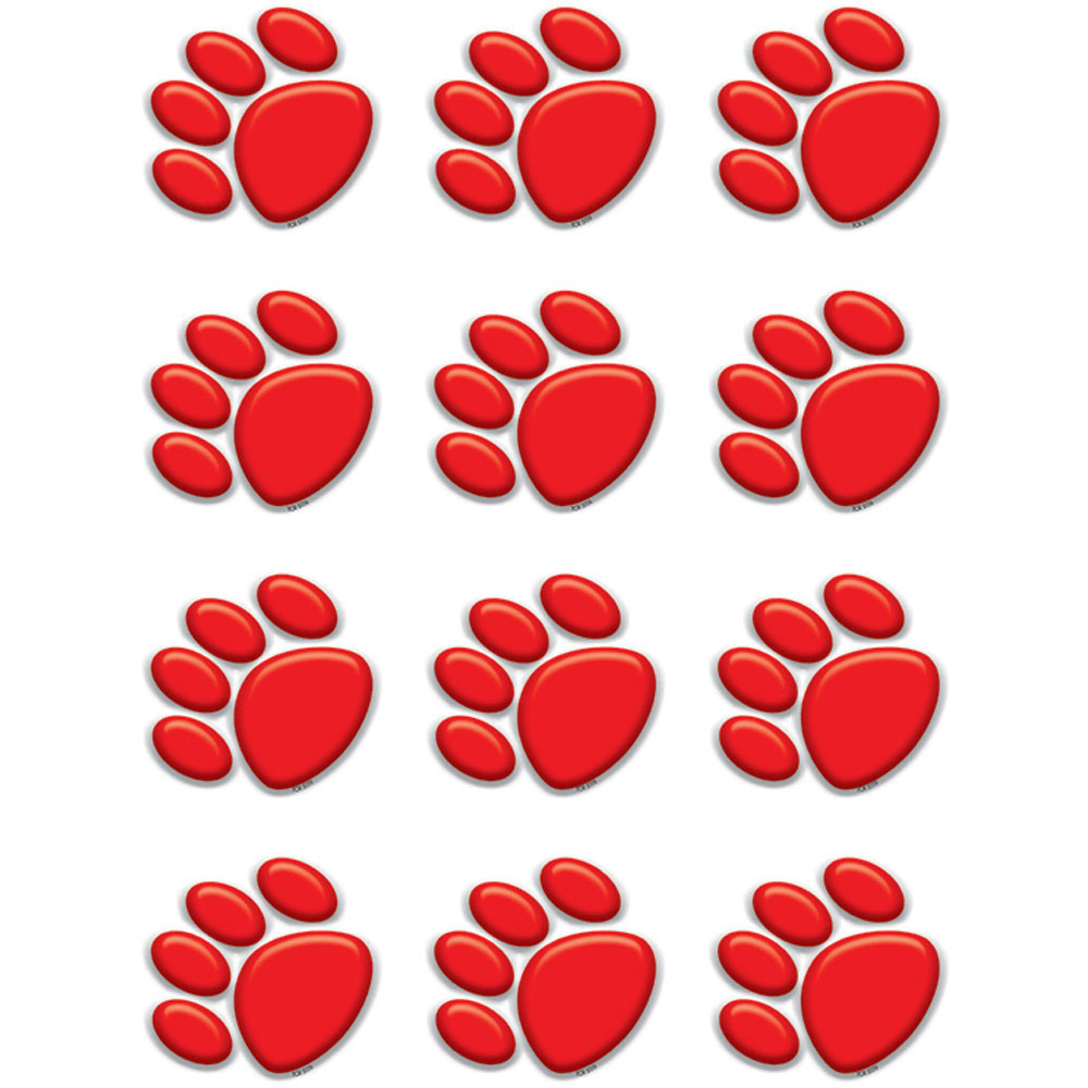TCR5119 - Red Paw Prints Mini Accents in Accents