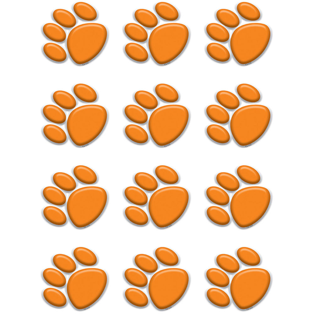 TCR5122 - Orange Paw Prints Mini Accents in Accents