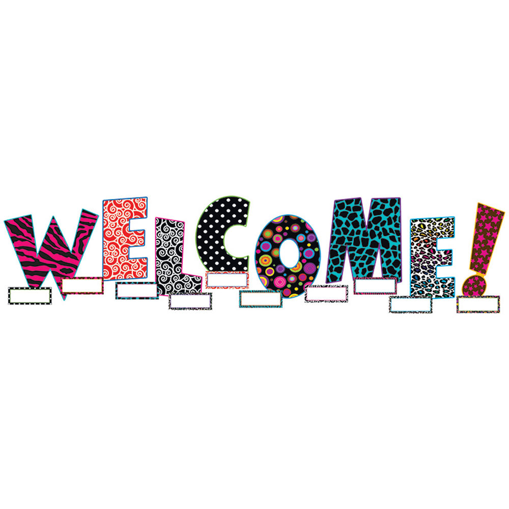 TCR5144 - Welcome Bulletin Board Set in Classroom Theme