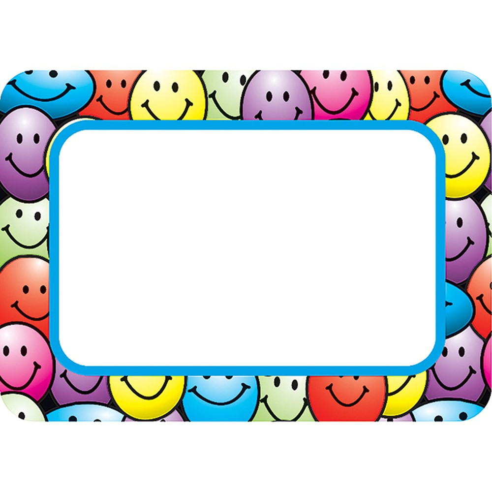 TCR5172 - Happy Faces Name Tags Labels in Name Tags