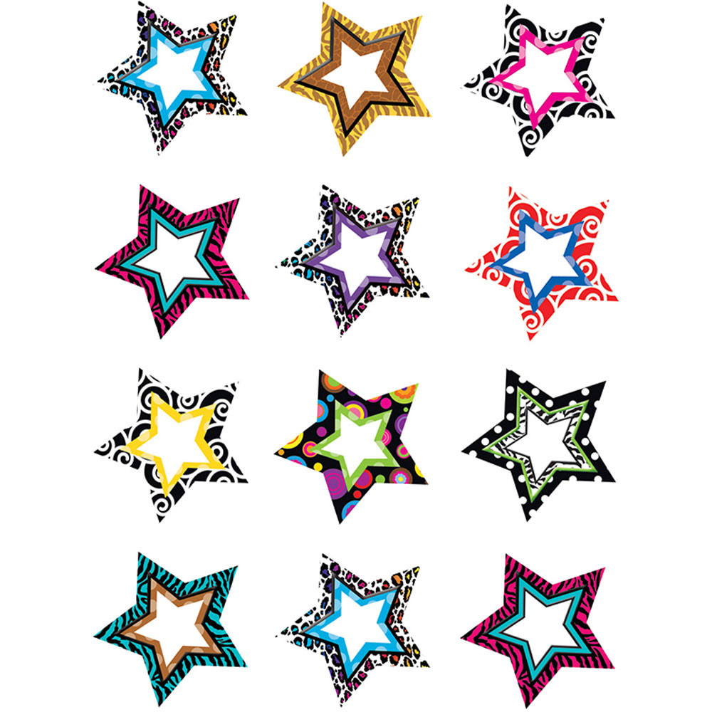 TCR5216 - Fancy Stars Mini Accents in Accents