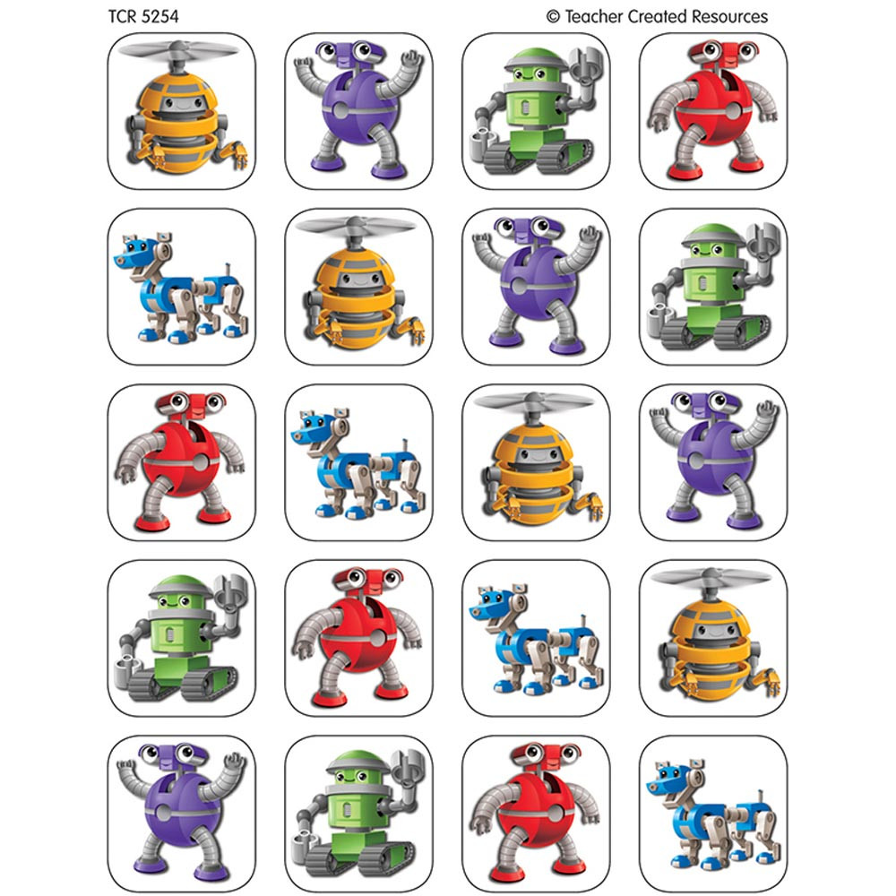 TCR5254 - Robots Stickers in Stickers