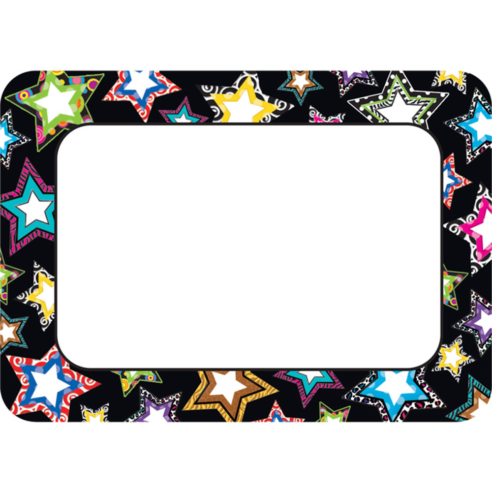 TCR5260 - Fancy Stars Name Tags in Name Tags