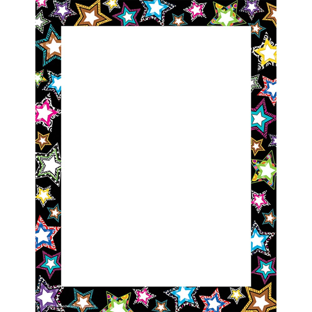 TCR5262 - Fancy Stars Computer Paper in Design Paper/computer Paper