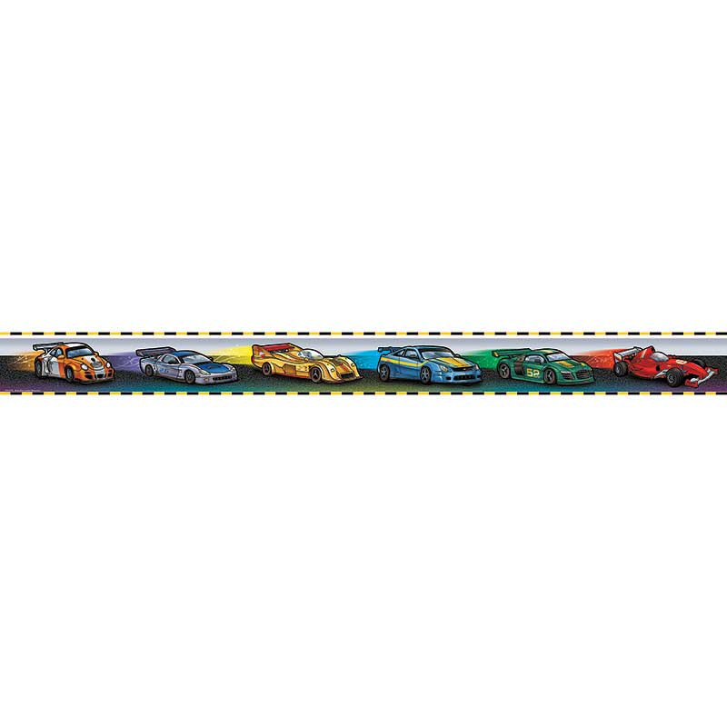TCR5273 - Race Cars Straight Border Trim in Border/trimmer
