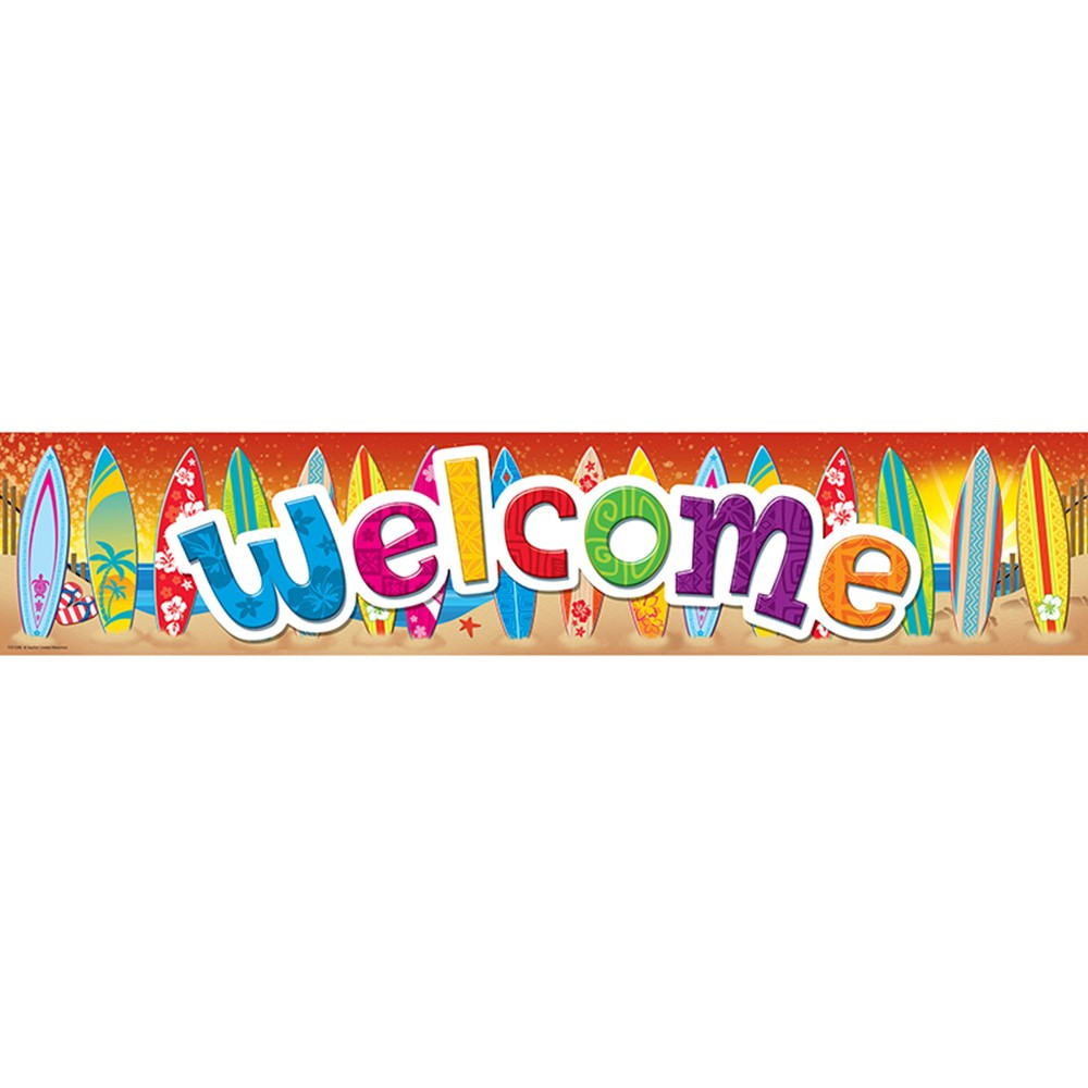 TCR5388 - Surfs Up Welcome Banner in Banners