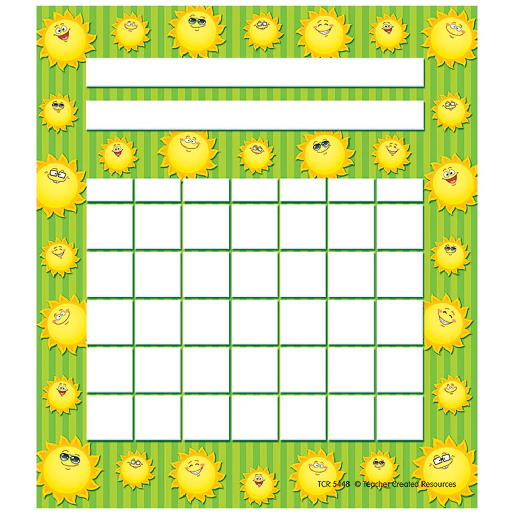 TCR5448 - Happy Suns Incentive Charts Pack in Incentive Charts