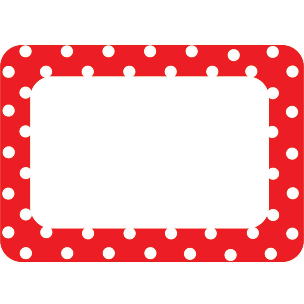 TCR5539 - Red Polka Dots 2 Name Tags in Name Tags