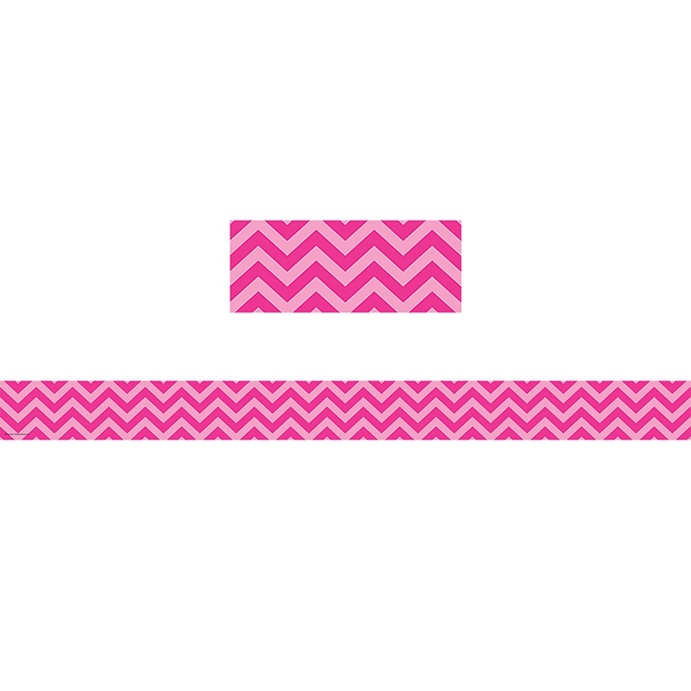 Straight Line Border Clipart : Hot pink chevron straight border trim tcr teacher