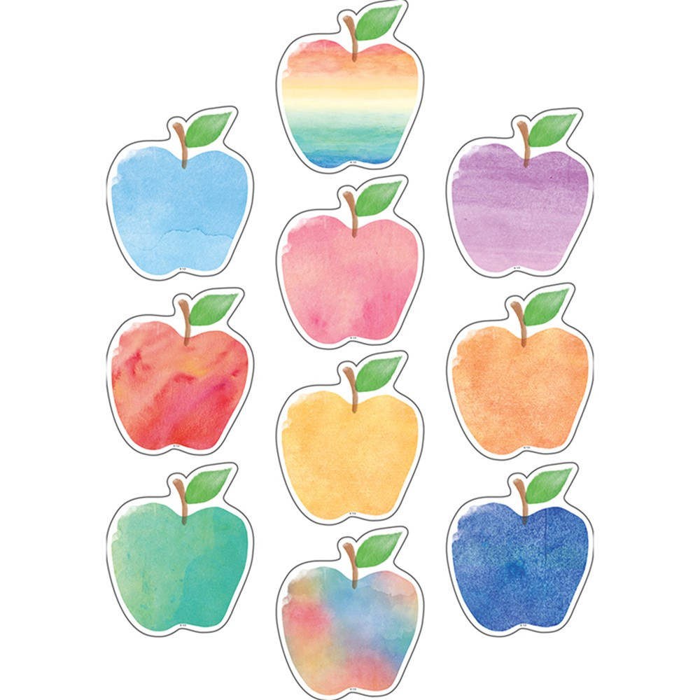 TCR5611 - Watercolor Apples Accents in Accents