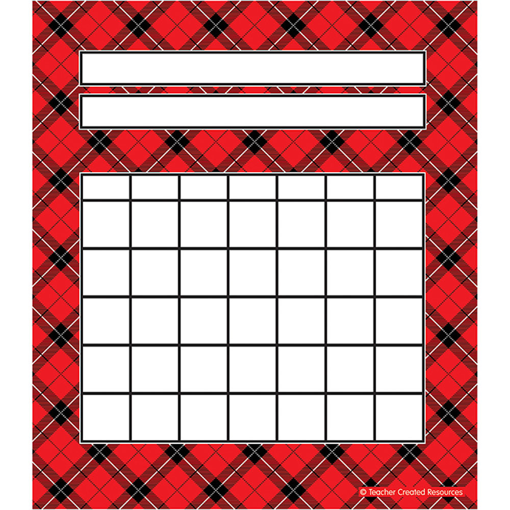 TCR5696 - Red Plaid Incentive Charts Pack in Incentive Charts
