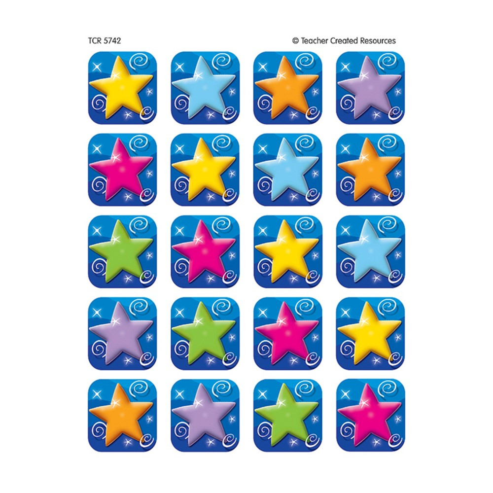 TCR5742 - Colorful Stars Stickers 120 Stks in Stickers