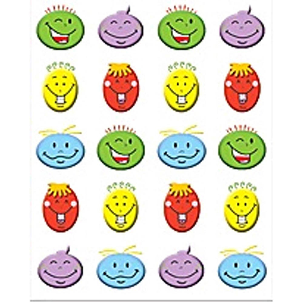 TCR5759 - Silly Smiles Stickers 120 Stks in Stickers