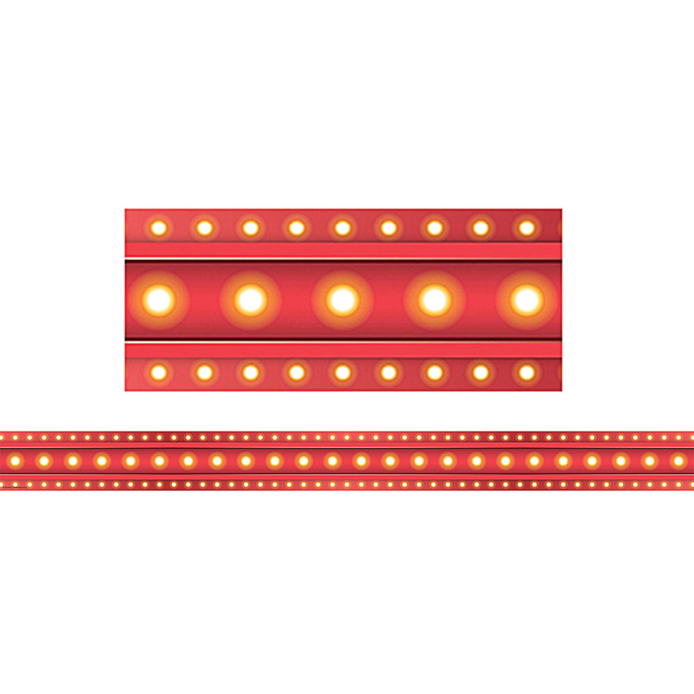 Foreign Language Classroom Decorations ~ Red marquee straight border trim tcr teacher