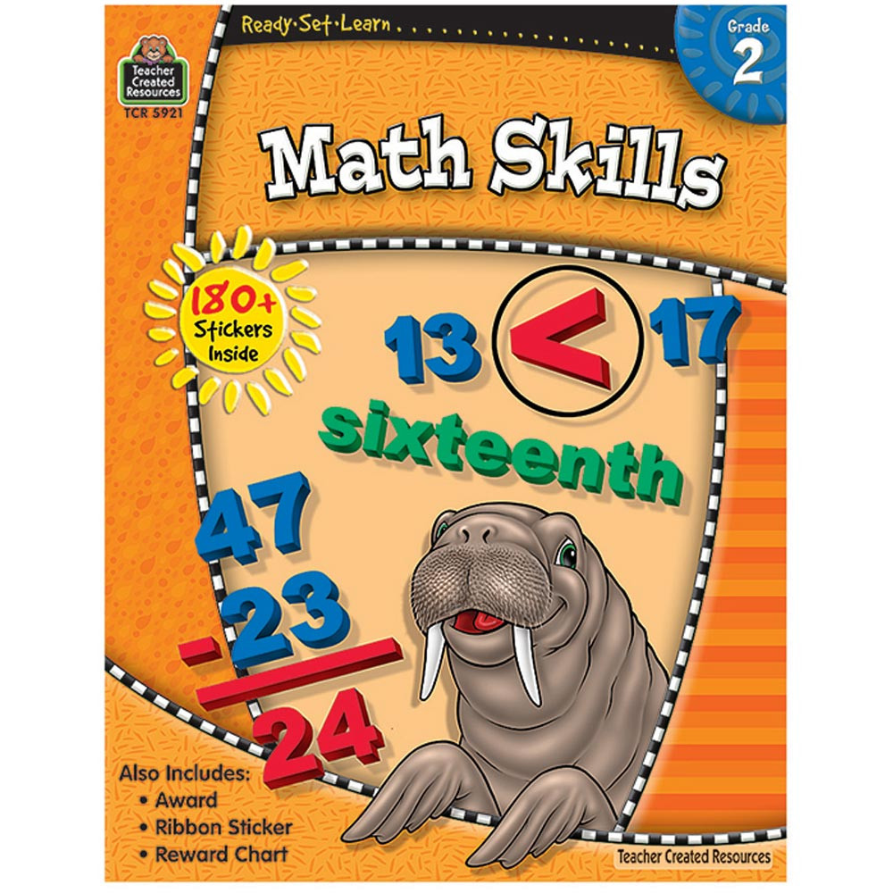 TCR5921 - Ready-Set-Learn Math Skills Gr 2 in Activity Books