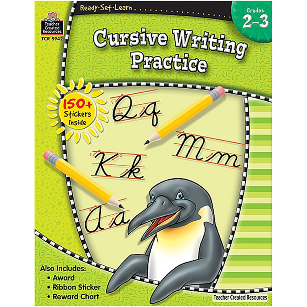TCR5942 - Ready Set Learn Cursive Writing Practice Gr 2-3 in Writing Skills