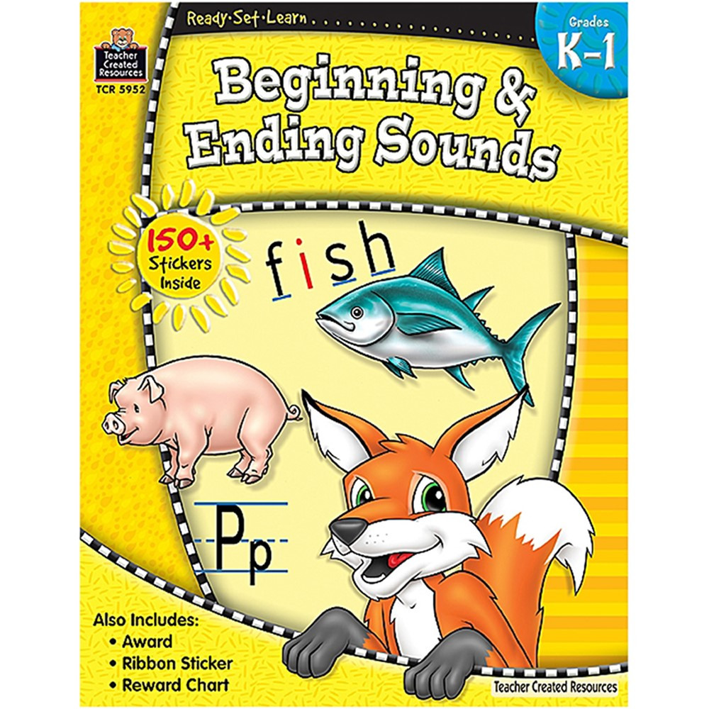 TCR5952 - Ready Set Learn Beginning & Ending Sounds Gr K-1 in Phonics