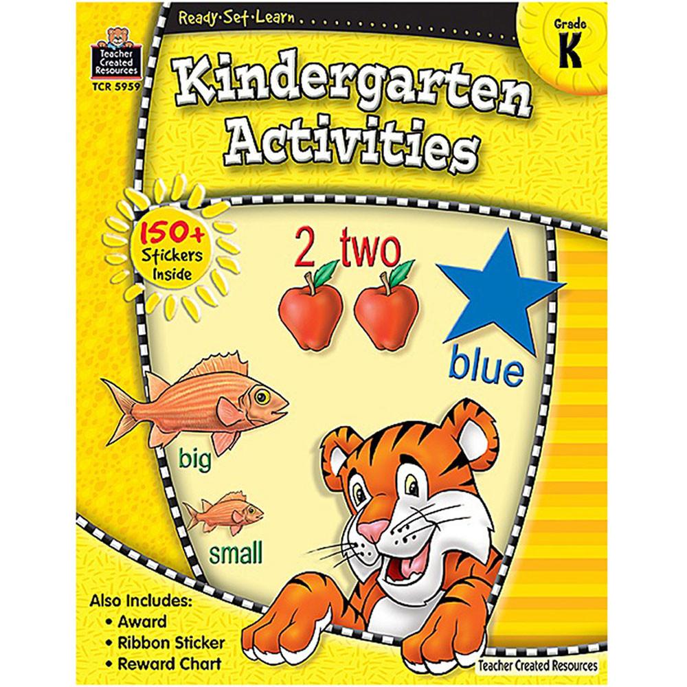 TCR5959 - Ready Set Learn Kindergarten Activities Gr K in Skill Builders