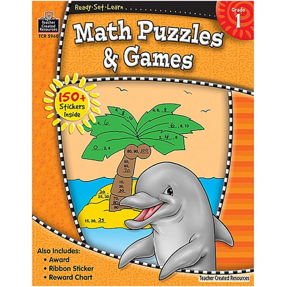 TCR5960 - Ready Set Lrn Math Puzzles & Games Gr 1 in Activity Books