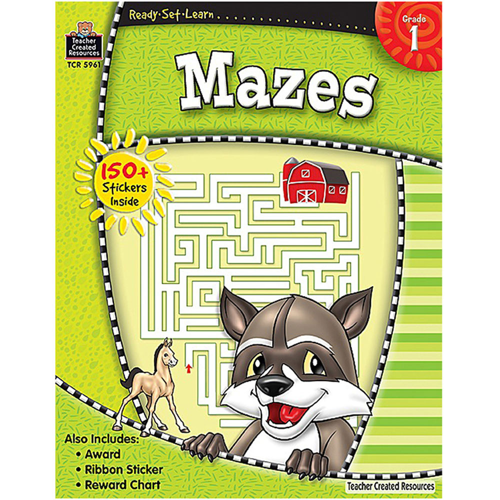 TCR5961 - Ready Set Learn Mazes Gr 1 in Tracing