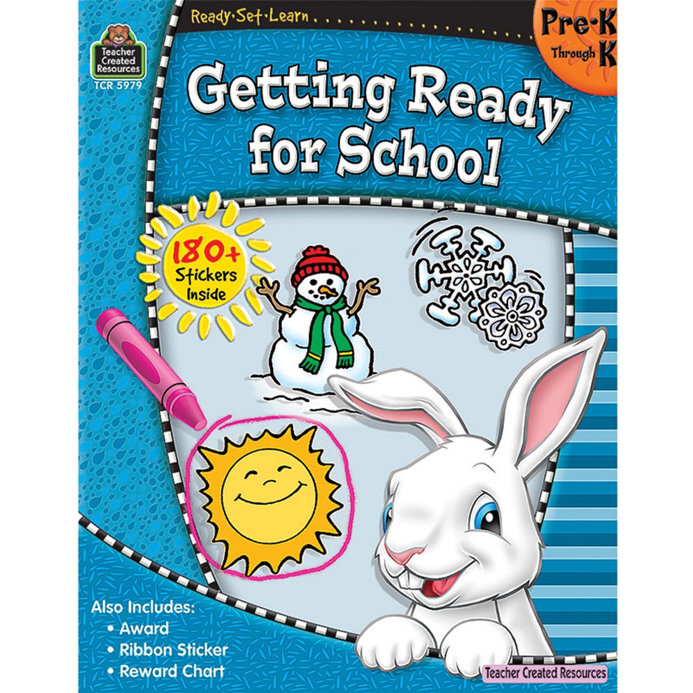 TCR5979 - Ready Set Learn Getting Ready For School Gr Pk-K in Skill Builders