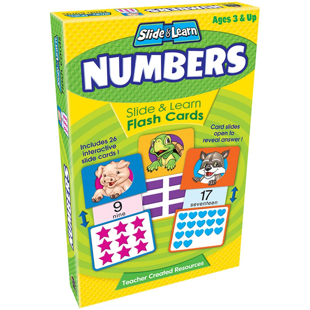 TCR6554 - Numbers Slide & Learn Flash Cards in Flash Cards