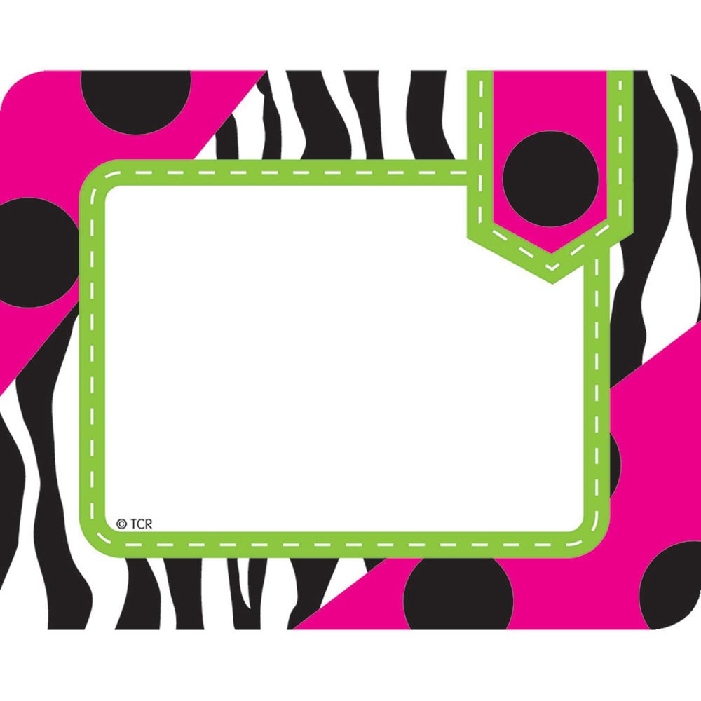 TCR70124 - Zebra Labels in Name Tags