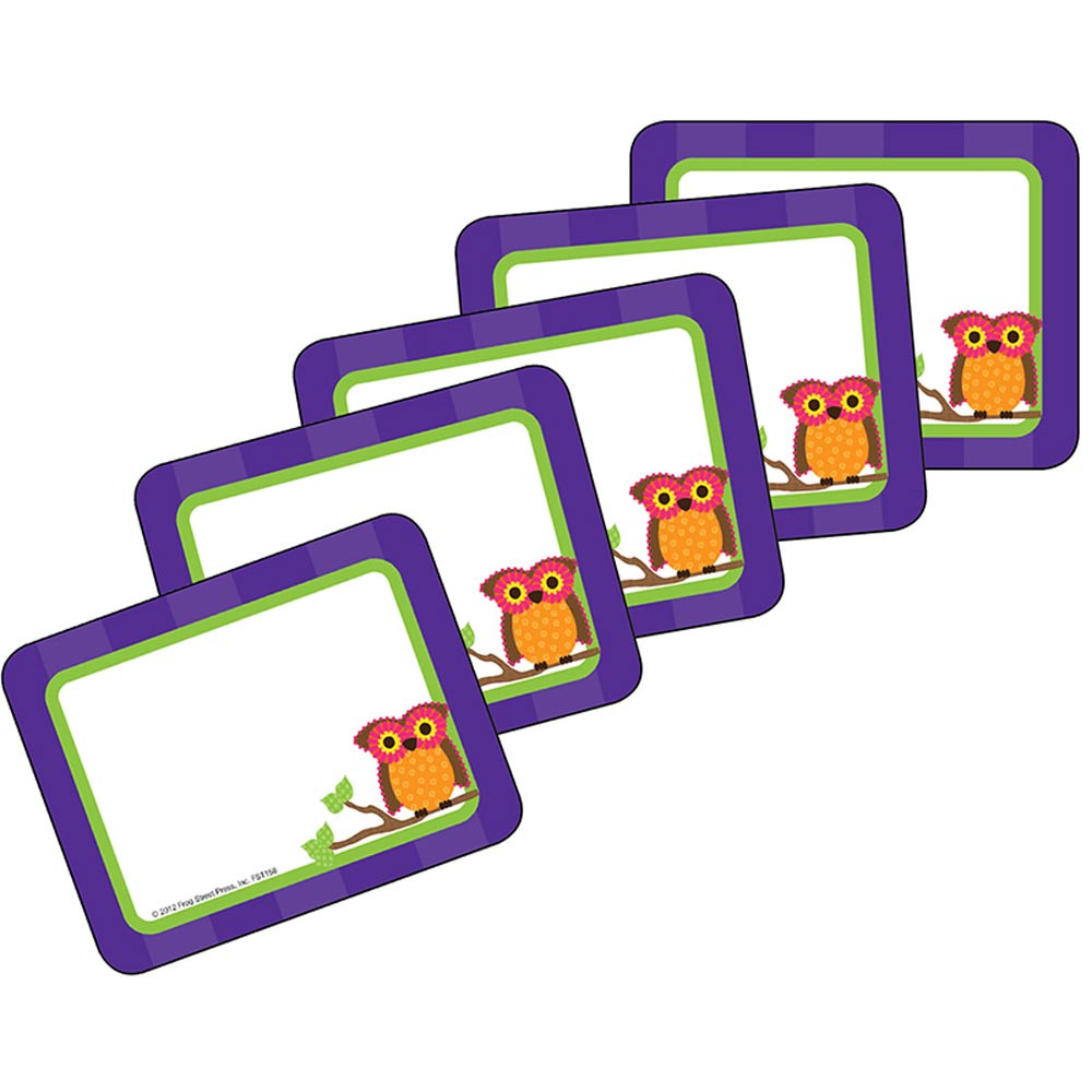 TCR70158 - Mod Circles With Owls Labels in Name Tags