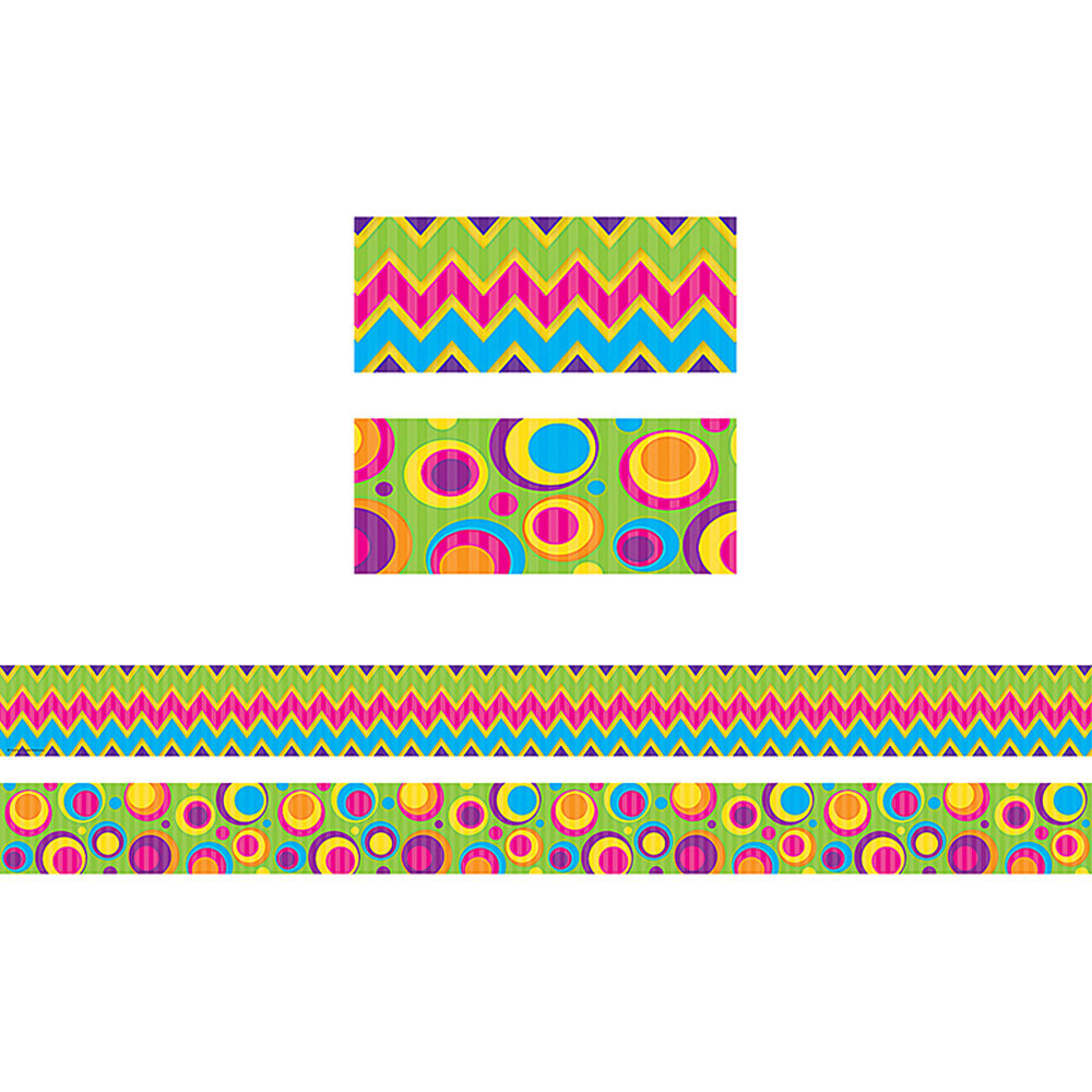 TCR73176 - Sassy Bubbles & Chevron Double Sided Borders in Border/trimmer