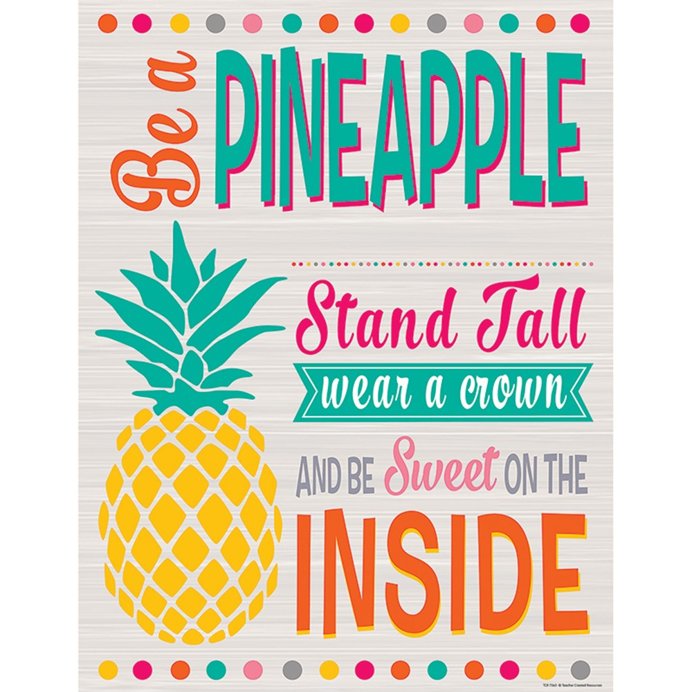TCR7563 - Tropical Punch Be A Pineapple Chart in Classroom Theme