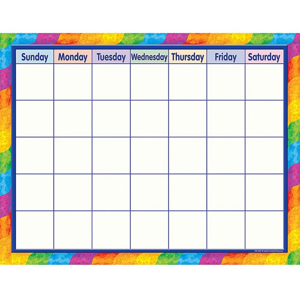 TCR7601 - Rainbow Calendar in Calendars