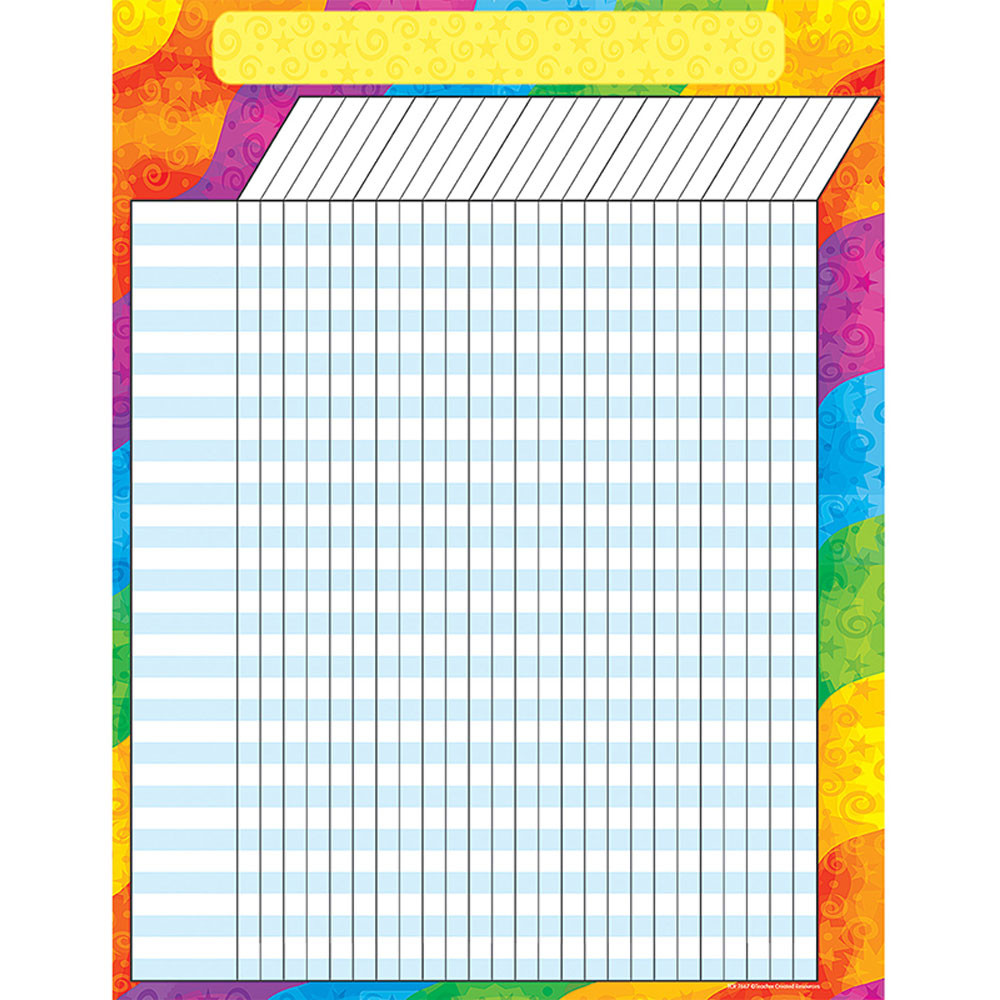 TCR7623 - Rainbow Incentive Chart in Incentive Charts