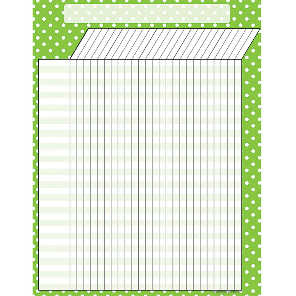 TCR7660 - Lime Polka Dots Incentive Chart in Incentive Charts