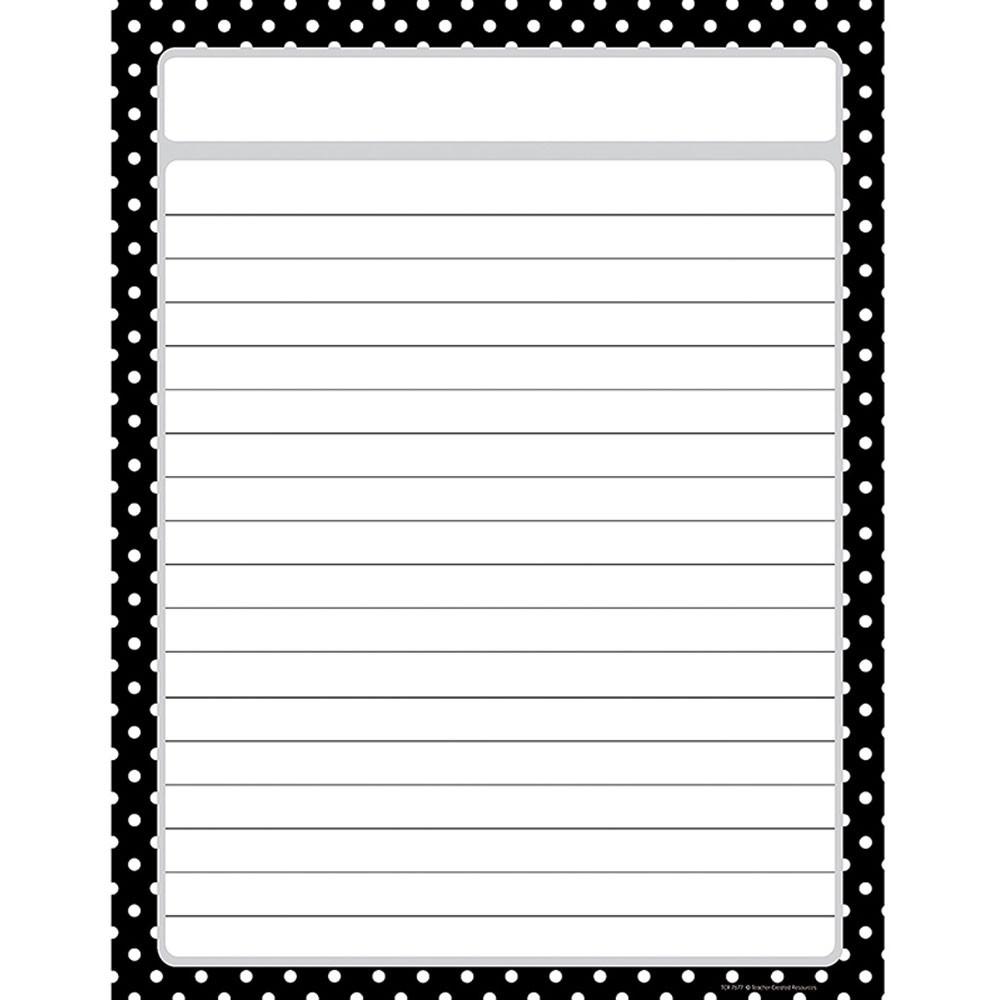 TCR7677 - Black Polka Dots Chart in Classroom Theme
