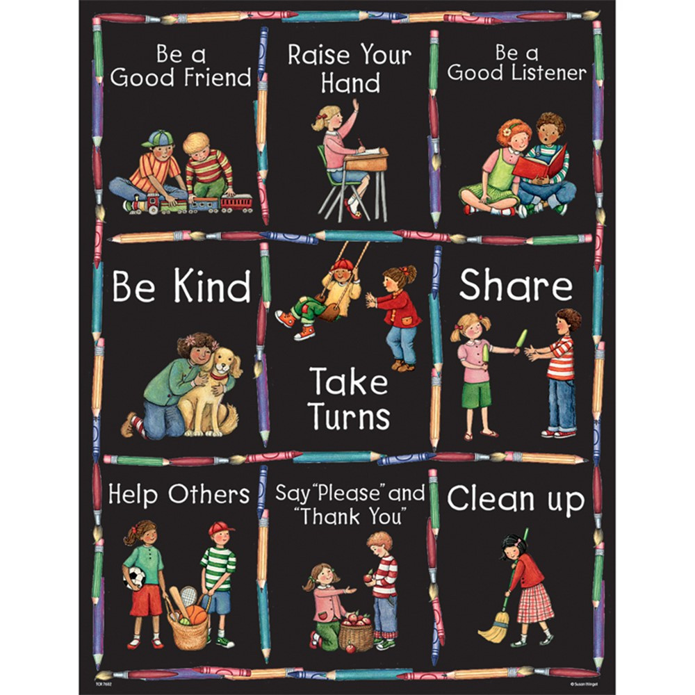 TCR7682 - Susan Winget Manners Chart in Miscellaneous