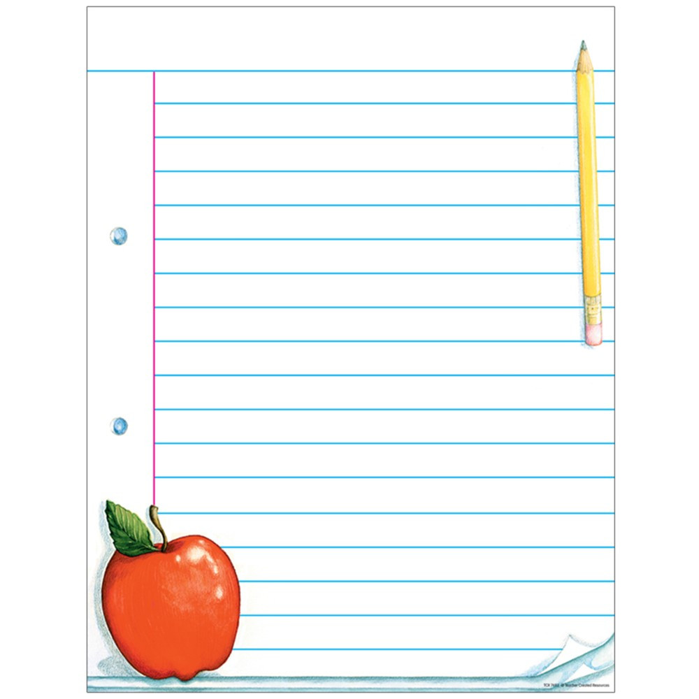 Notepad Paper Lined Chart