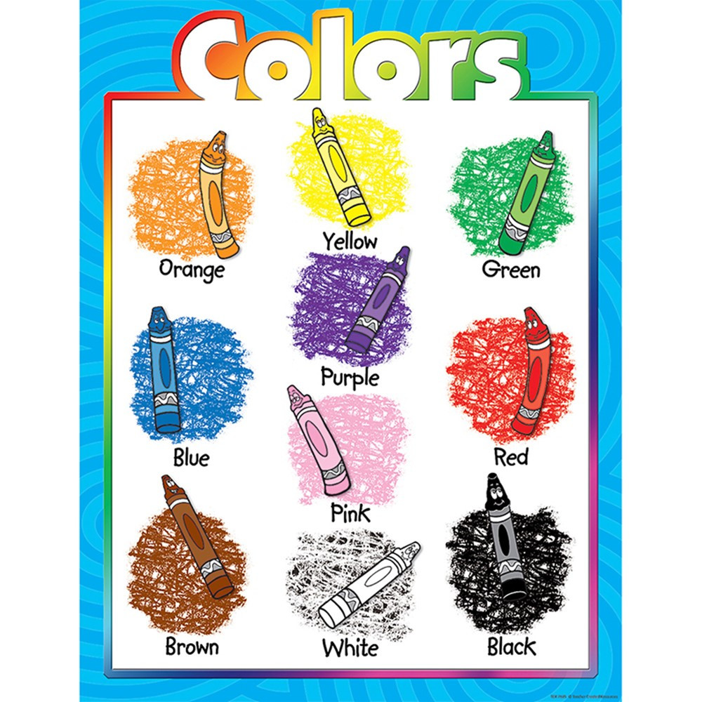 TCR7685 - Colors Early Learning Chart in Miscellaneous