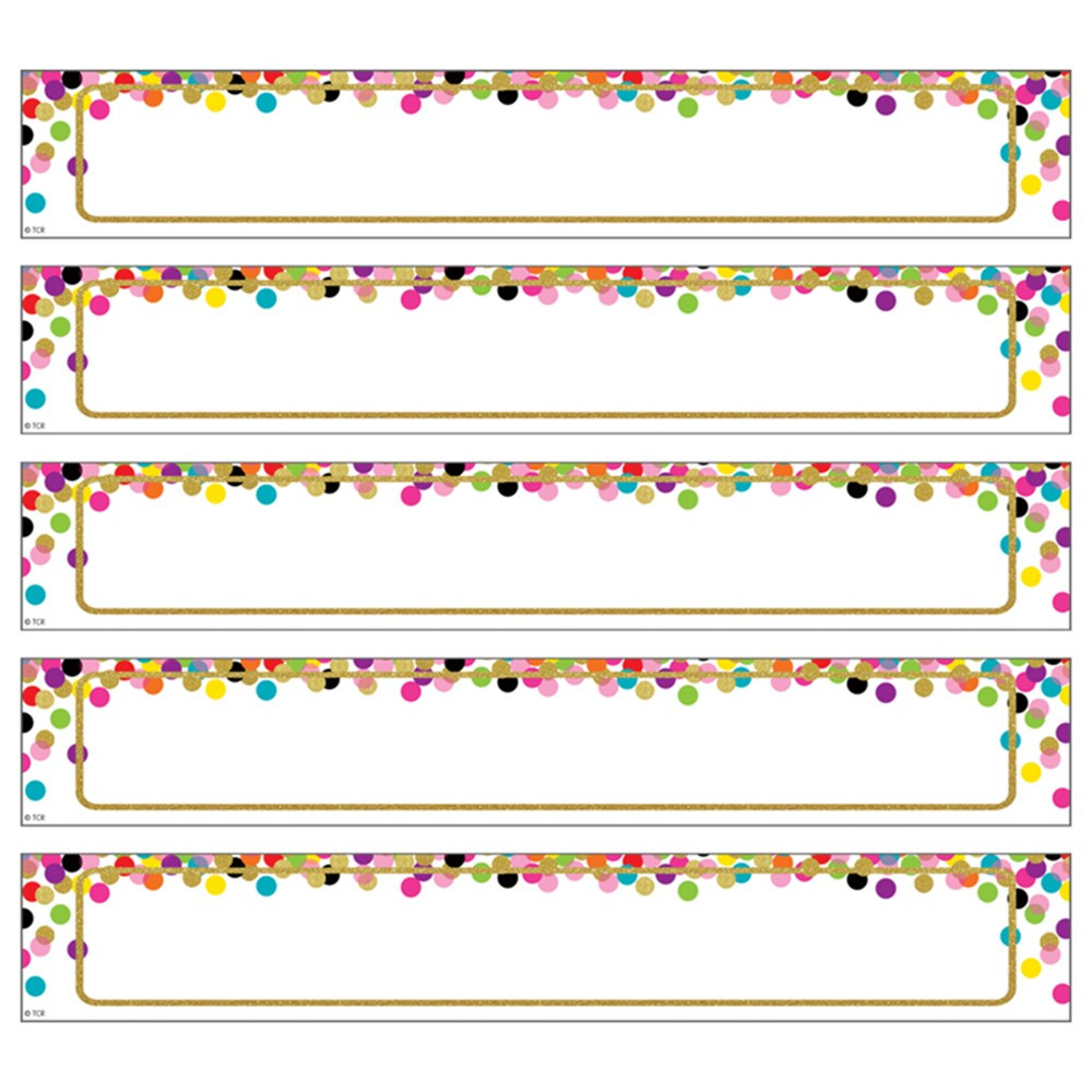 Large Confetti Labels Magnetic Accents - TCR77014   Teacher Created Resources   Accents