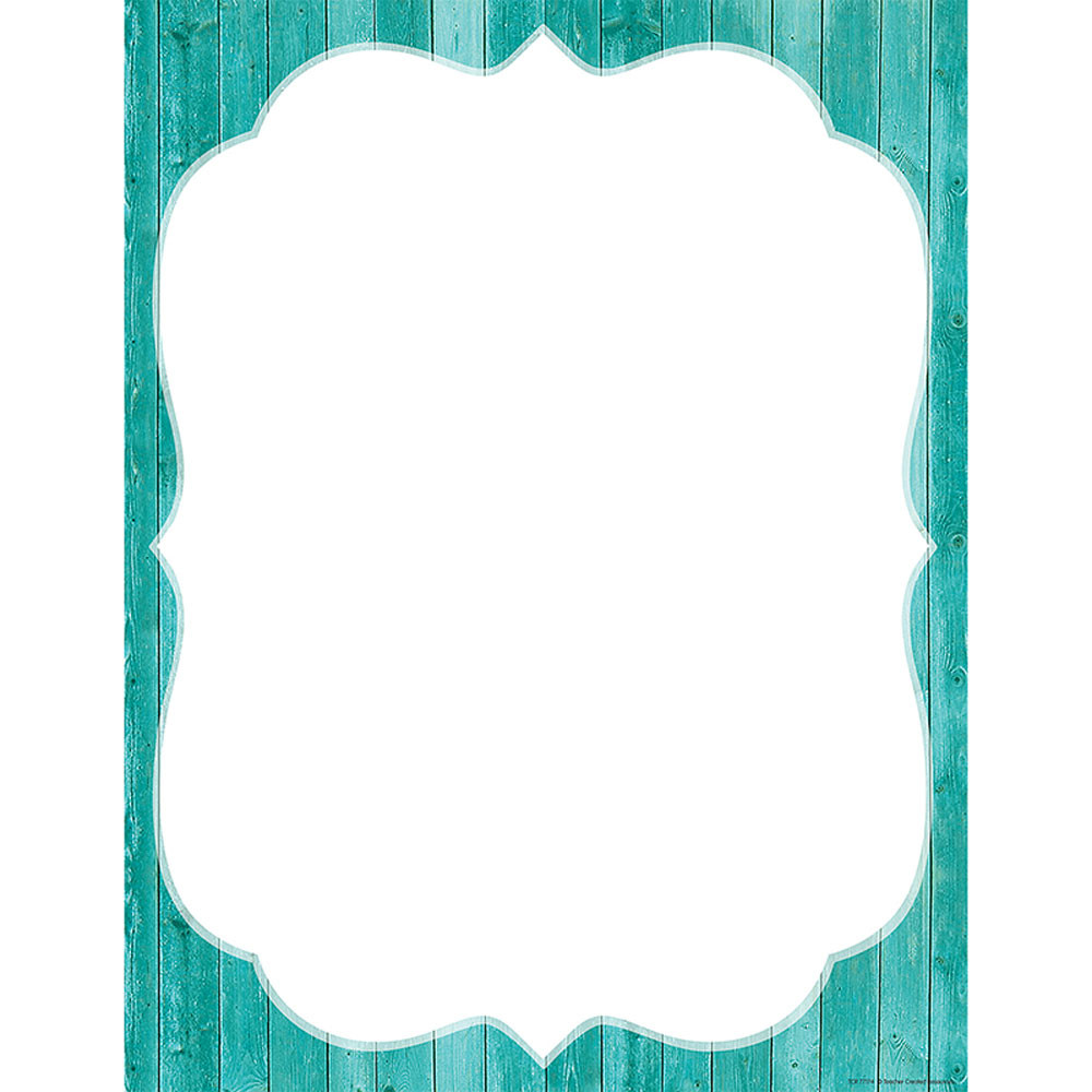 TCR77174 - Shabby Chic Blank Chart in Classroom Theme