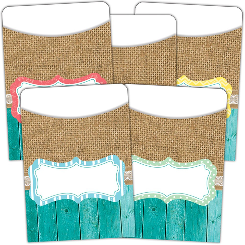 TCR77178 - Shabby Chic Library Pockets Multi Pack in Library Cards