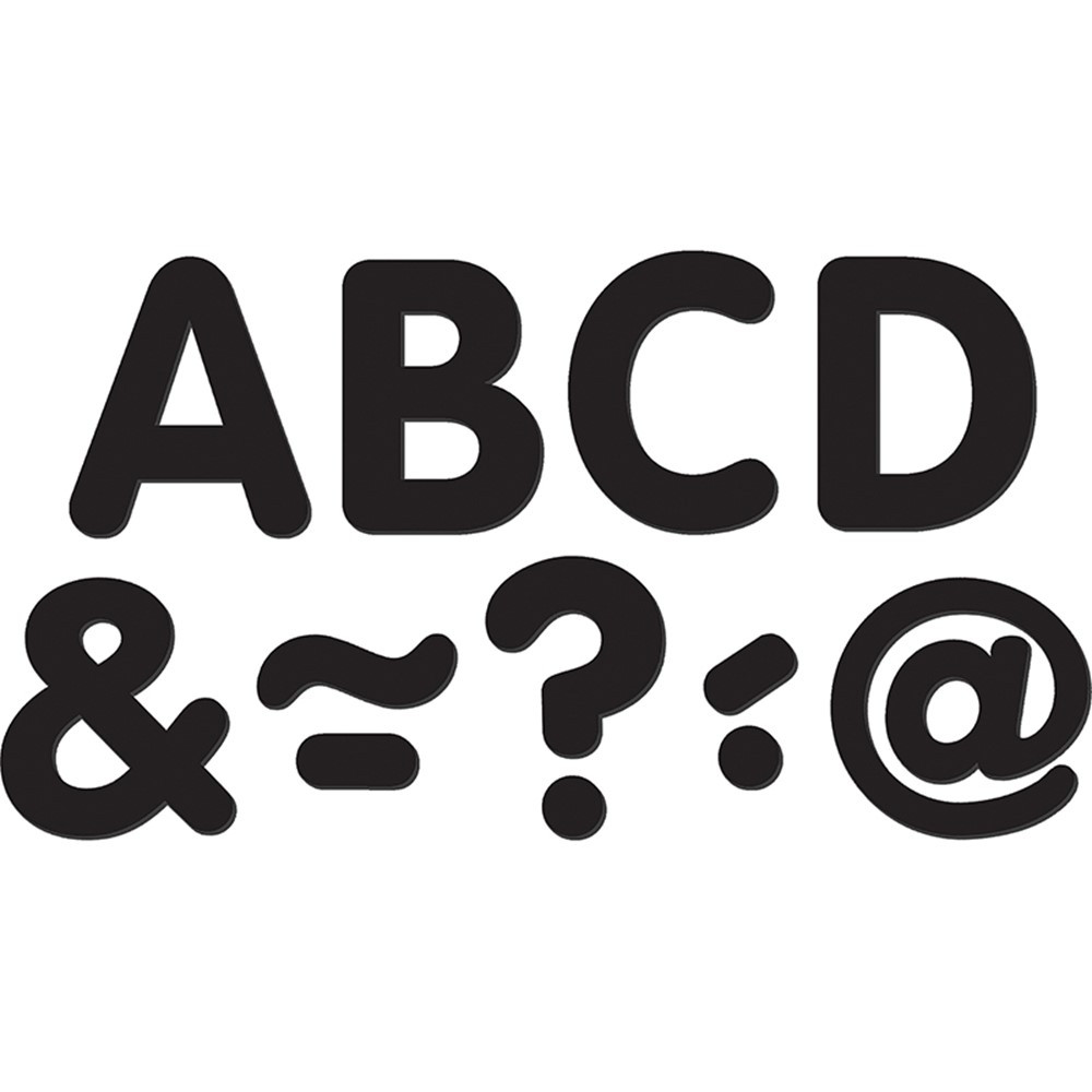 TCR77188 - Black Classic 2In Magnetic Letters in Magnetic Letters