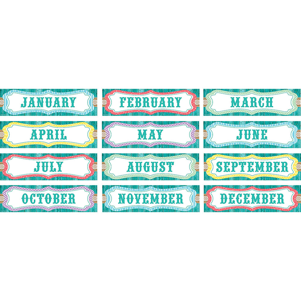 TCR77193 - Shabby Chic Monthly Headliners in Chart Toppers