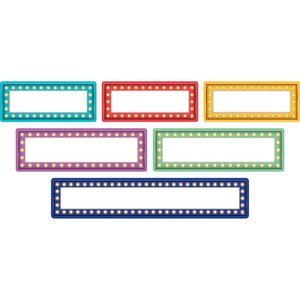 TCR77330 - Clingy Thingies Marquee Labels in Name Plates