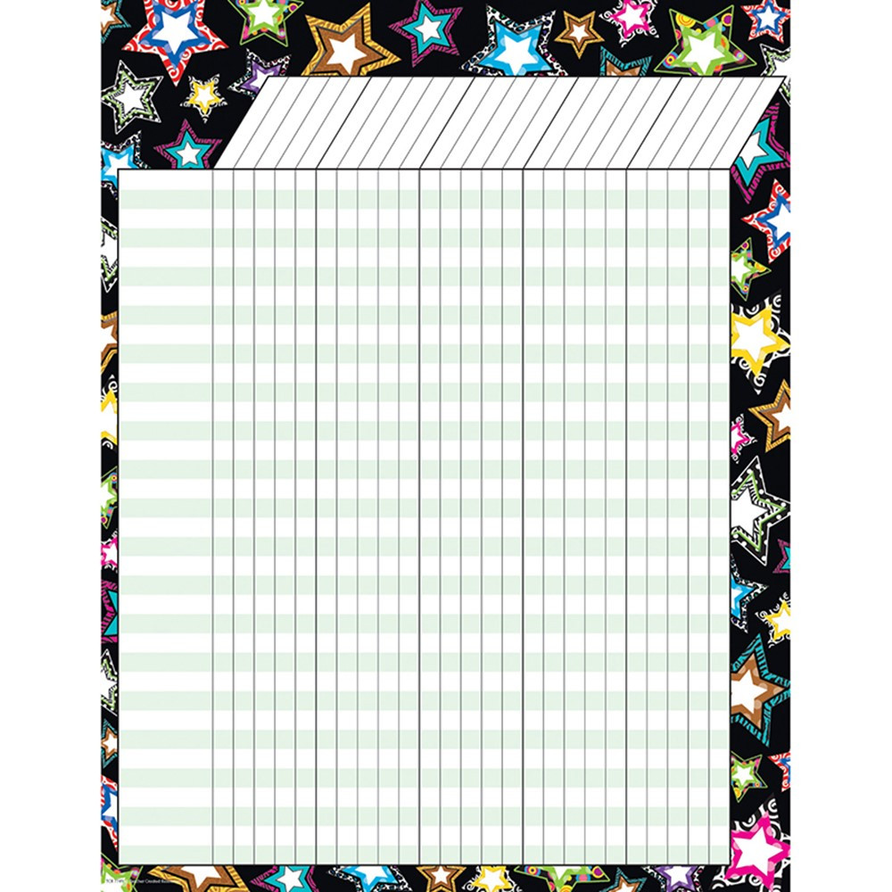 TCR7749 - Fancy Stars Incentive Chart in Incentive Charts