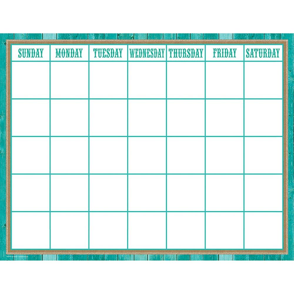 TCR7759 - Shabby Chic Calendar Chart in Calendars