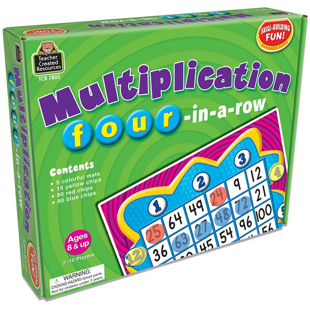 TCR7803 - Multiplication Four-In-A-Row Game in Math