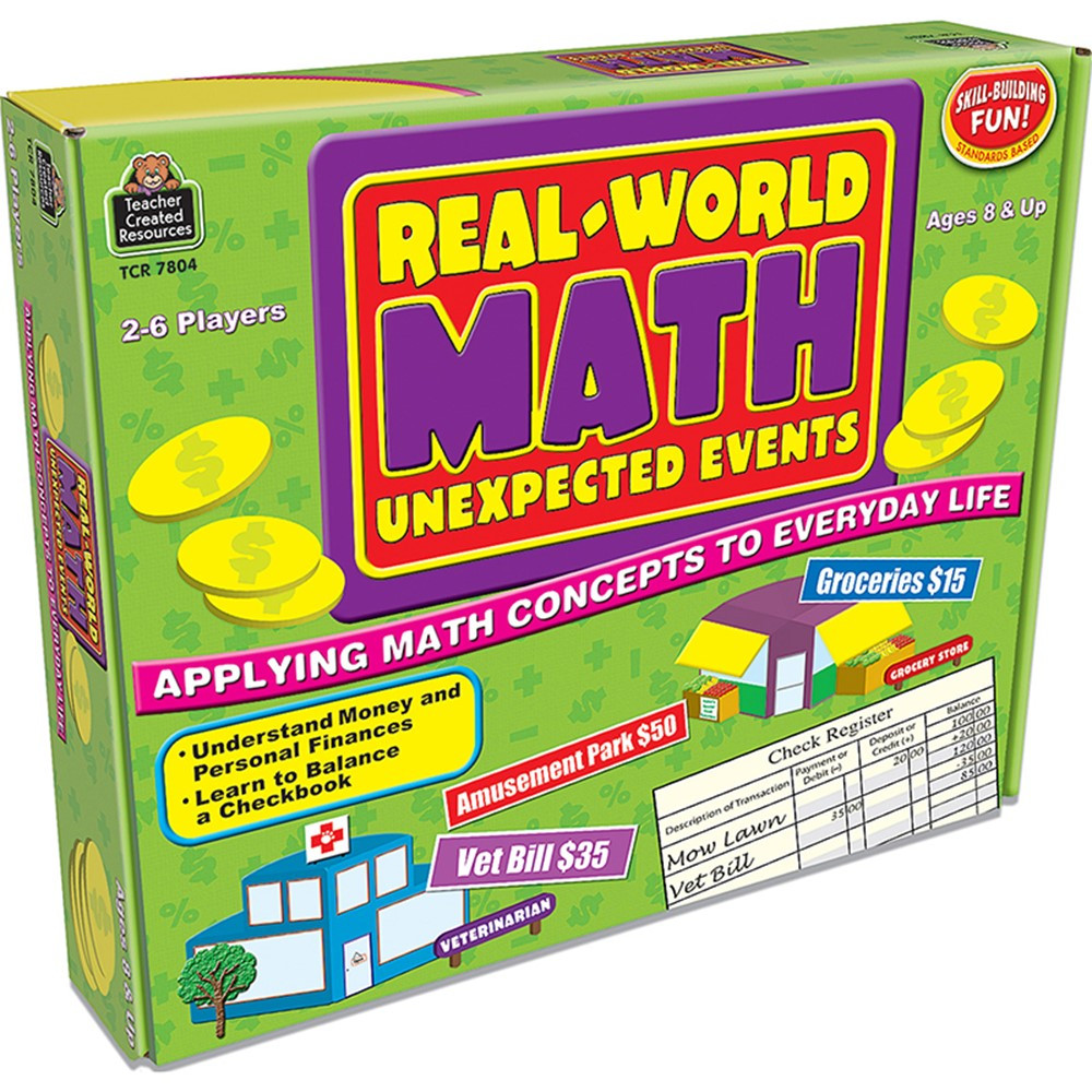 TCR7804 - Real World Math Unexpected Events Game in Math