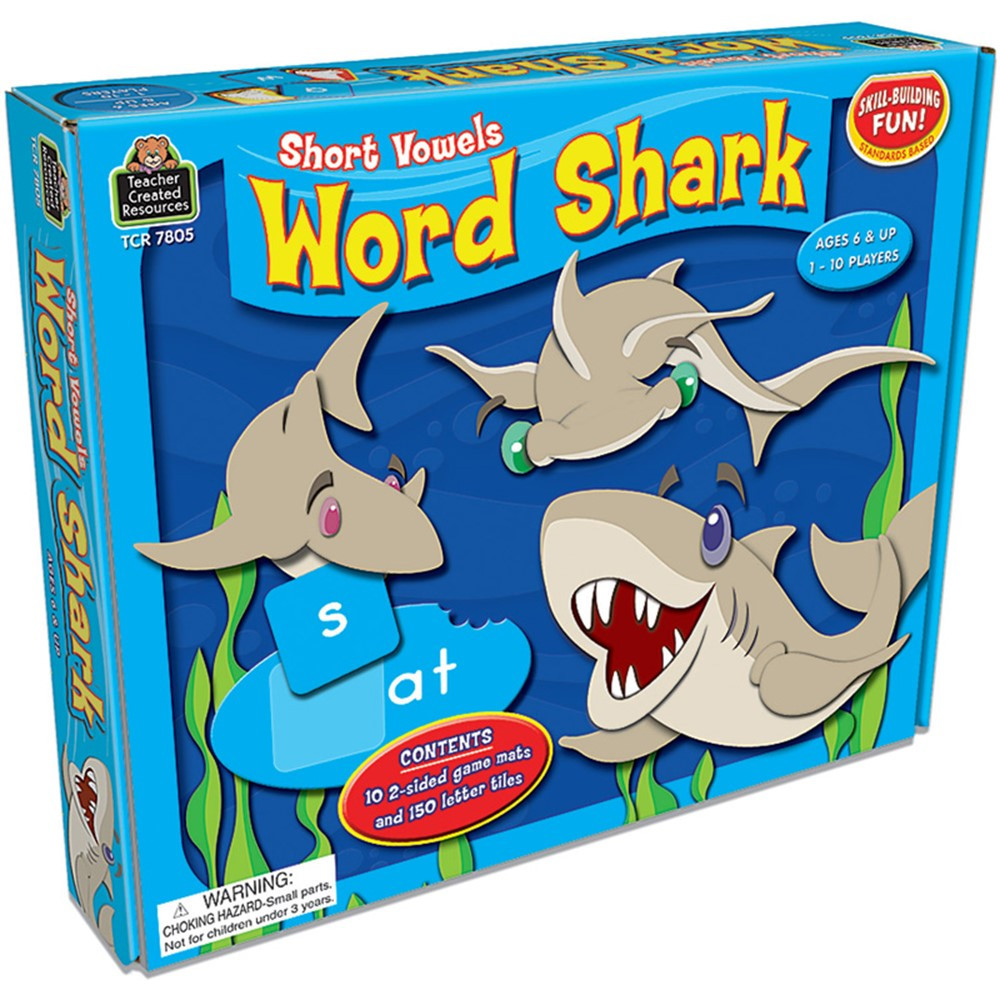 TCR7805 - Word Shark Short Vowels Game in Language Arts
