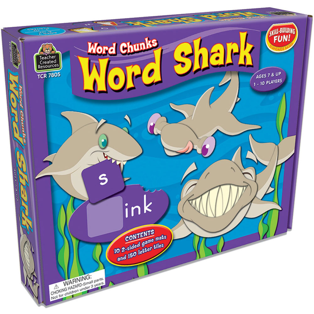 TCR7806 - Word Shark Word Chunks Game in Language Arts